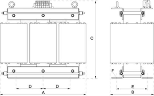 dtm 25 3ac trenntransformator mit modulkern stehende montage. Black Bedroom Furniture Sets. Home Design Ideas