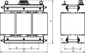dam 3ac spartransformator stehende montage mit modulkern. Black Bedroom Furniture Sets. Home Design Ideas